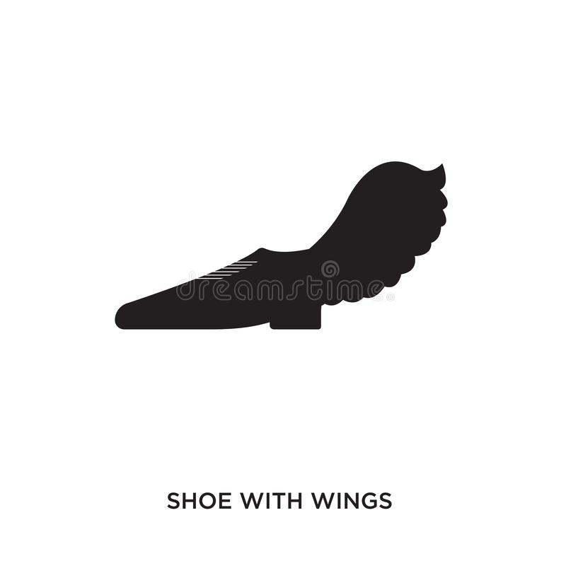 shoe with wings logo vector illustration