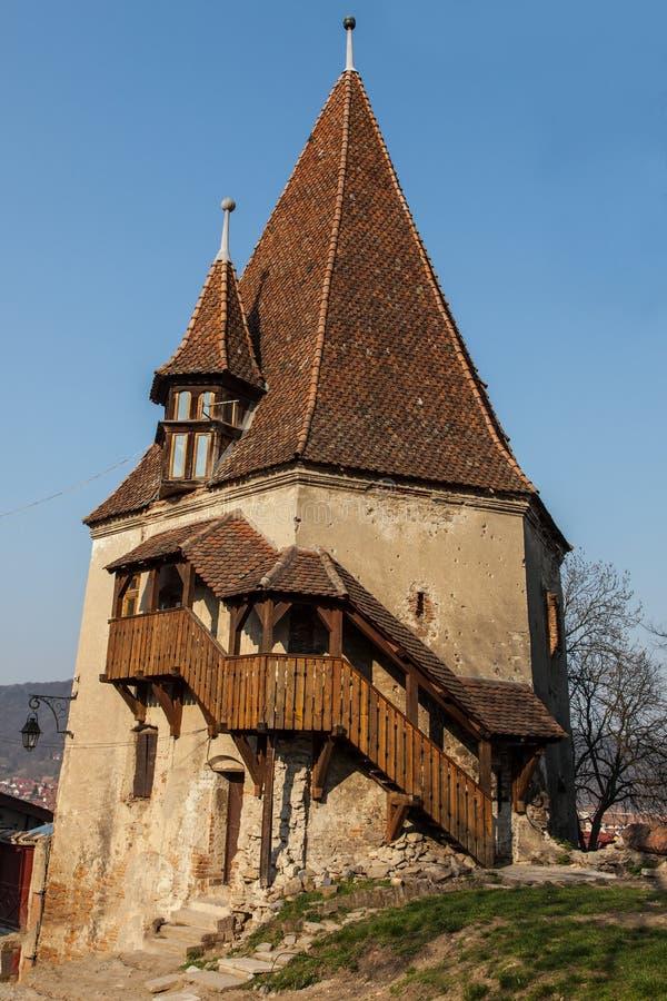 The Shoemaker's Tower- Sighisoara, Romania stock photography