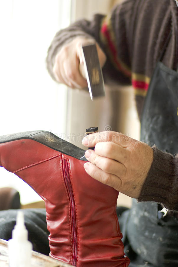 Download Shoemaker stock photo. Image of shop, boot, nail, commerce - 11196338