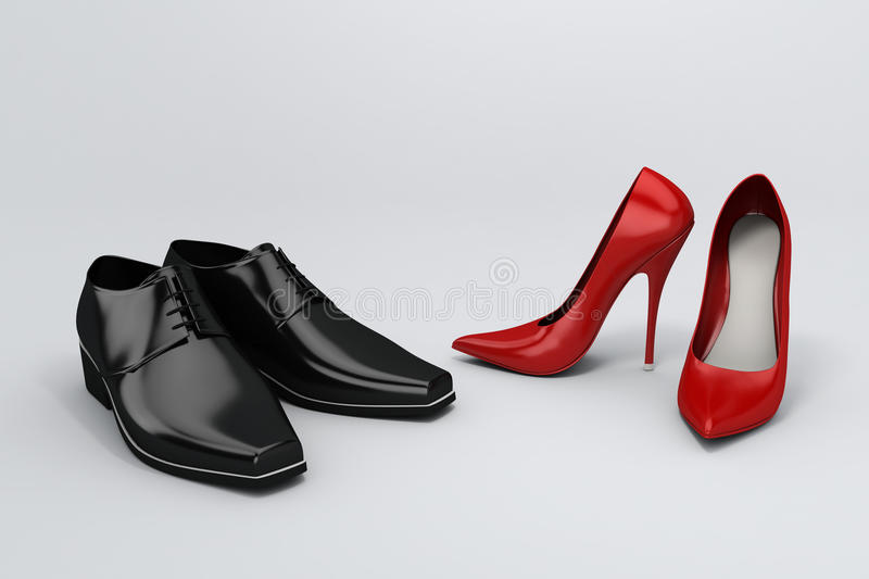 Download Shoes stock illustration. Illustration of black, clothing - 13185037
