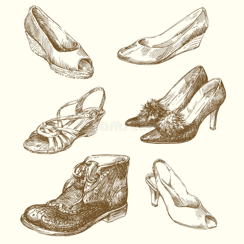 Download Shoes stock vector. Image of leather, classic, glamor - 24783952