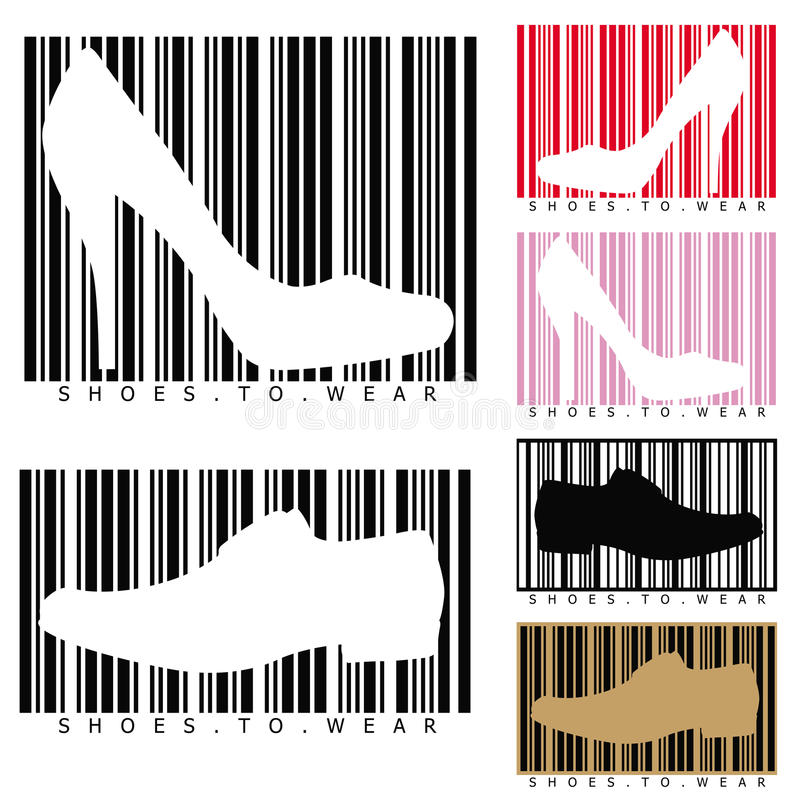 Free Shoes And Barcodes Royalty Free Stock Image - 20055046