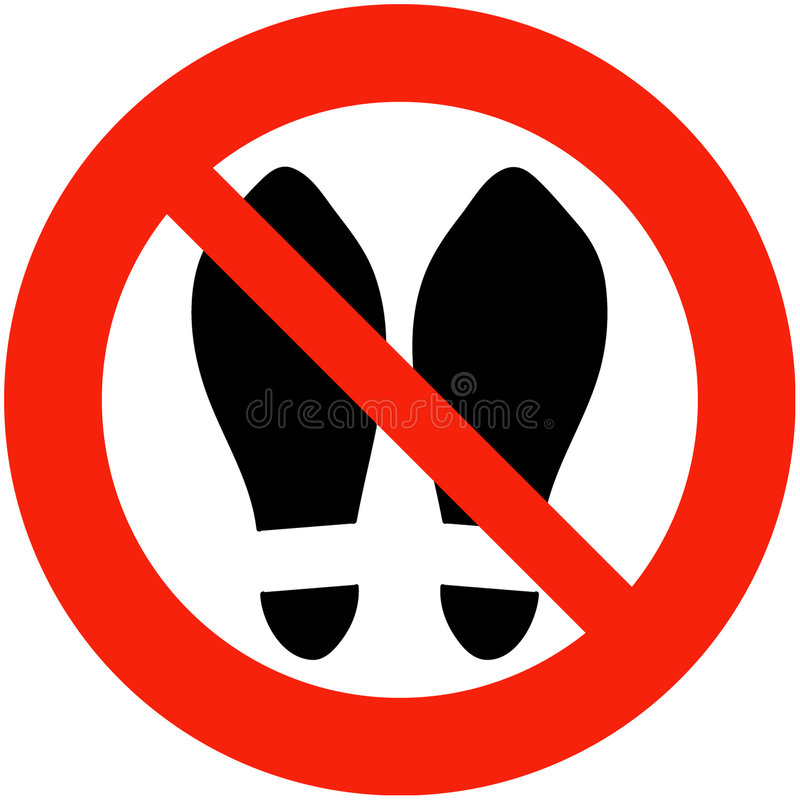 Download Shoes Banned Royalty Free Stock Image - Image: 59216