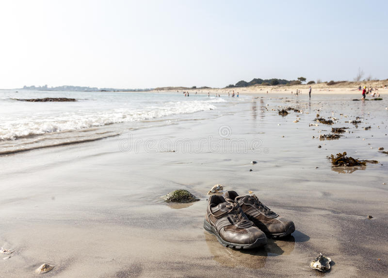 Download Shoes on the Beach stock photo. Image of sand, outdoor - 27008116