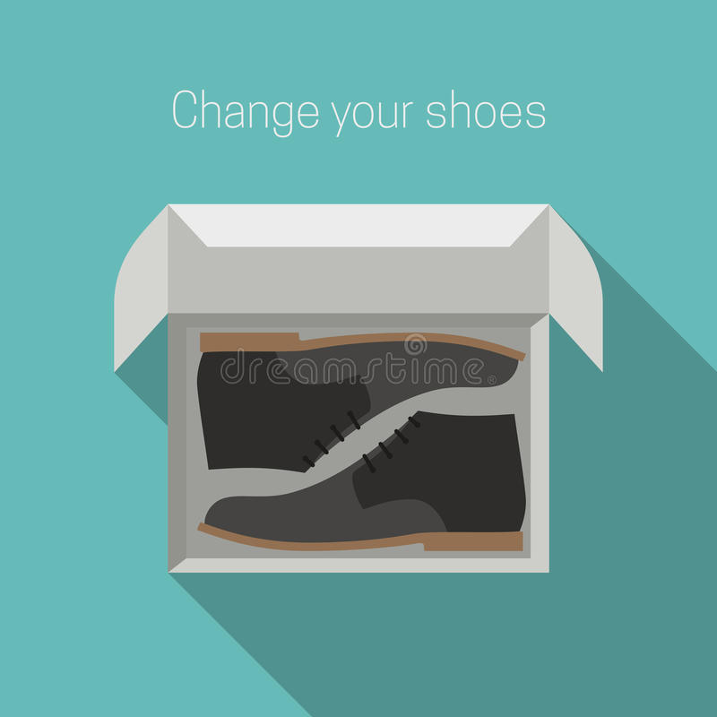 Shoes in box stock illustration