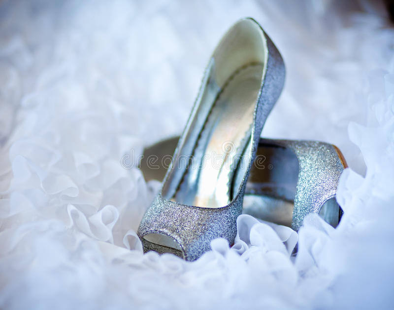 shoes for the bride stock photography