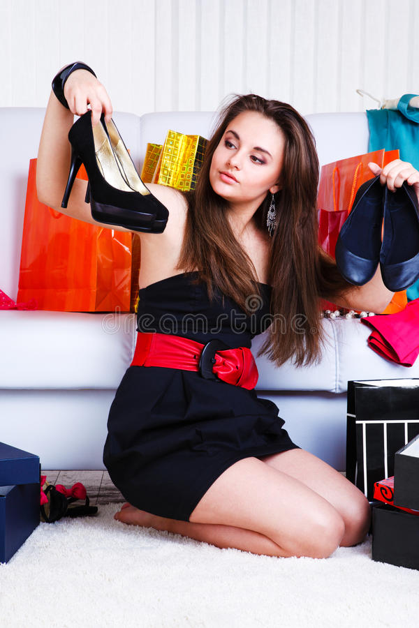Shoes choice royalty free stock photos