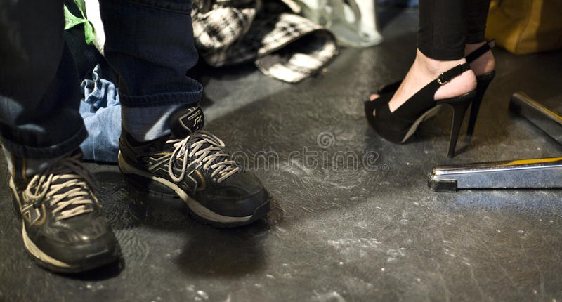 Shoes Backstage At The BOSS - Hugo Boss Show During NYFW