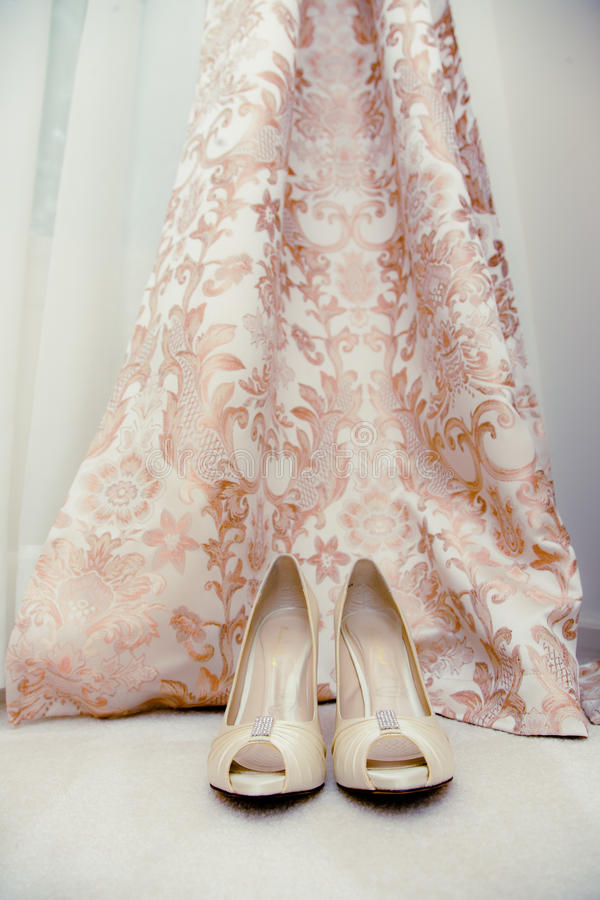 Shoes and dress stock image