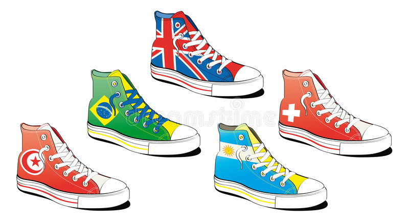 Shoes with flag royalty free illustration