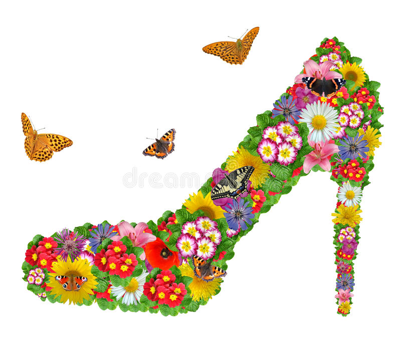 Download Shoes from the flowers stock image. Image of bouquet - 17508893