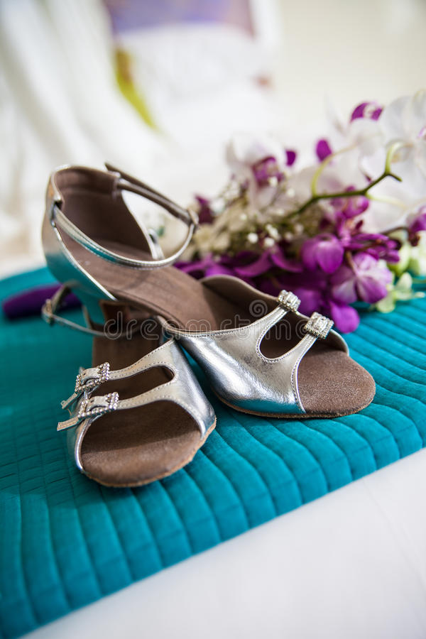 Download Shoes and flowers stock image. Image of white, turquoise - 25156259