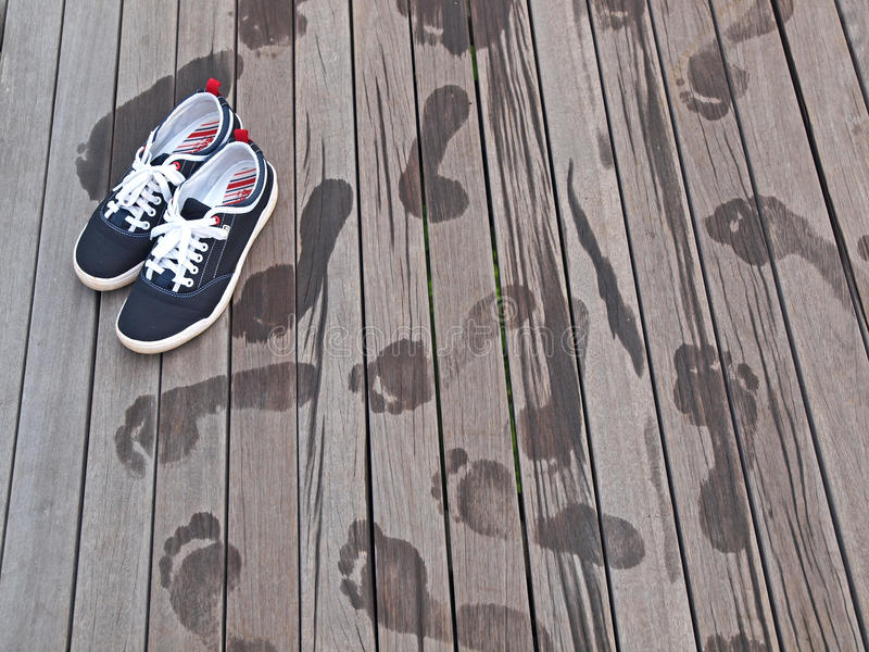 Download Shoes And Footprints Royalty Free Stock Photos - Image: 17396138