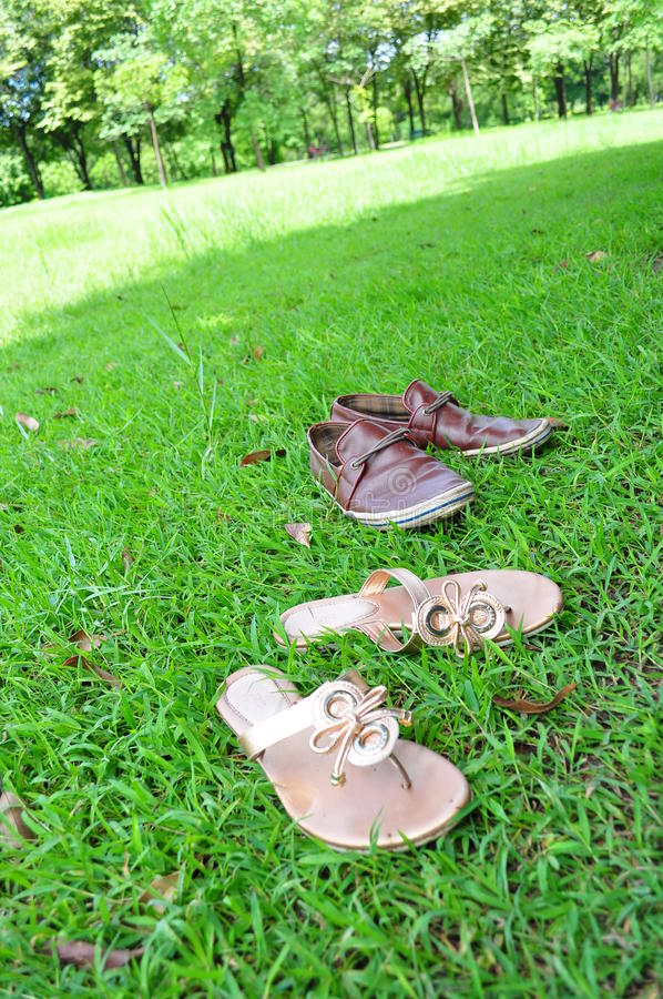 Download Shoes on a grass stock image. Image of women, sunshine - 22304359
