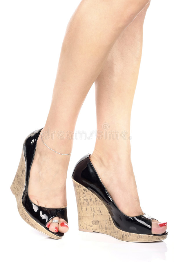 shoes högt ben s för hälet kvinnan royaltyfri fotografi