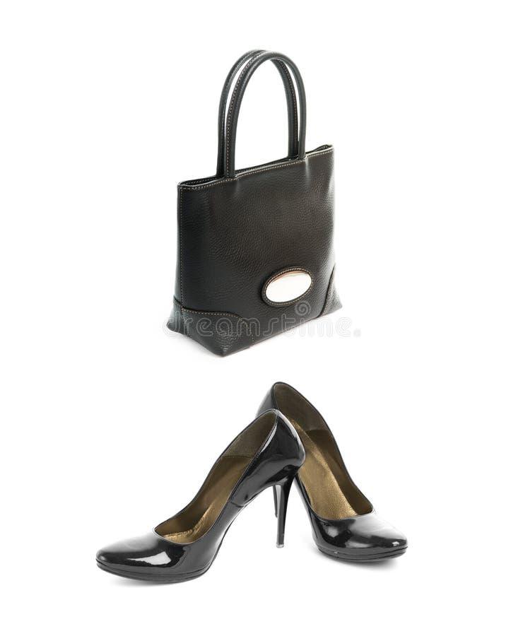Shoes With Handbag Stock Photography