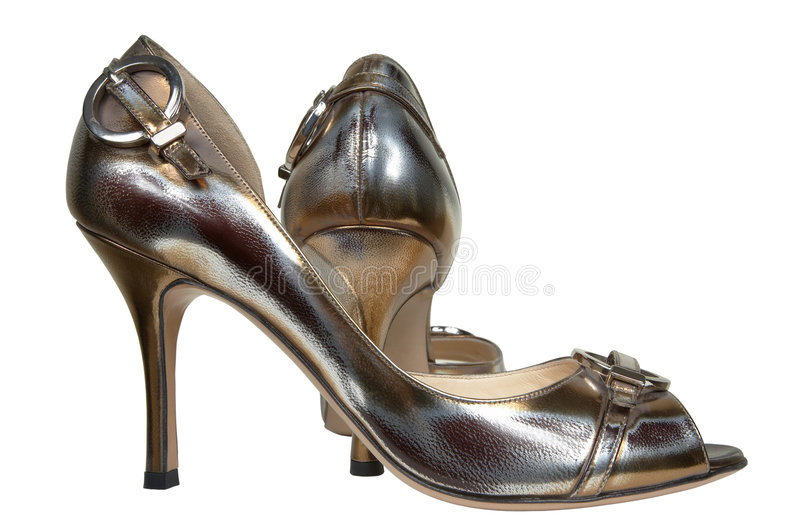 Shoes on a high heel stock images