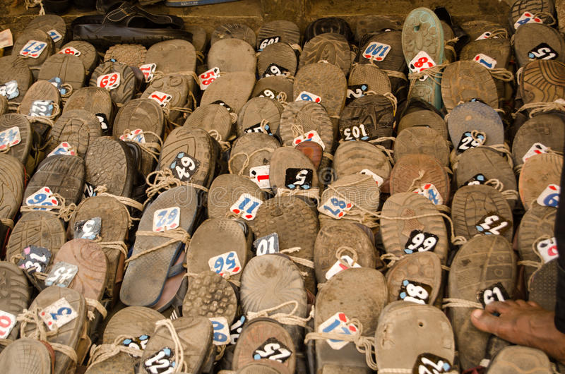 Shoes at Hyderabad Mosque
