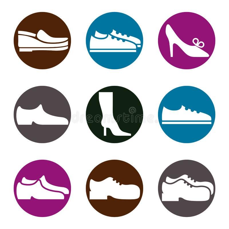 Shoes icon set royalty free illustration