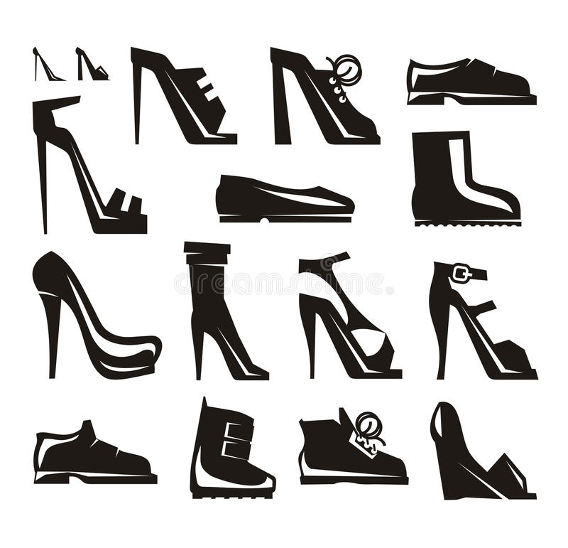 Free Shoes Icons Vector Format Royalty Free Stock Photos - 33746338