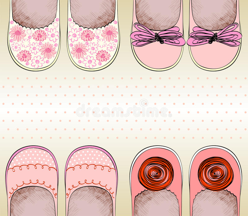 Shoes For Little Girls Stock Photo