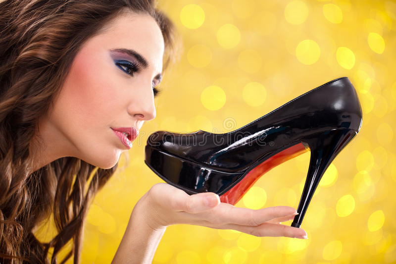 Shoes lover stock images