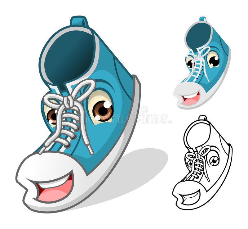 Shoes Mascot Cartoon Character royalty free illustration