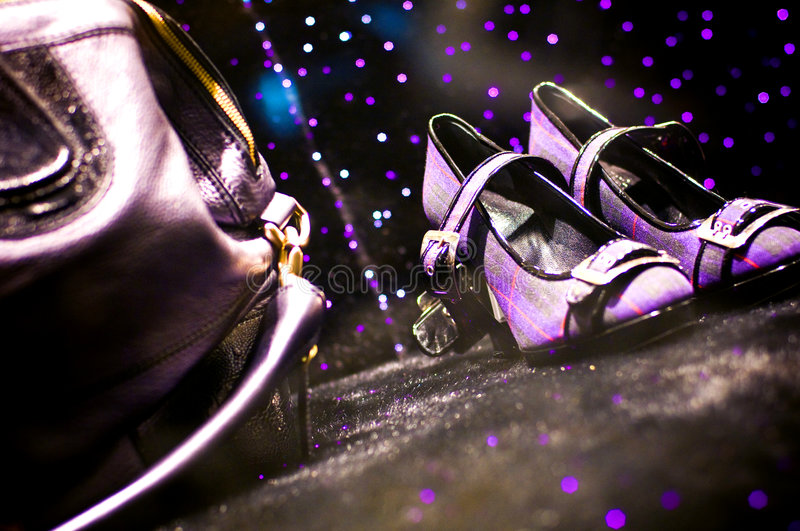 Download Shoes And Purse On The Ground Royalty Free Stock Photography - Image: 4032717