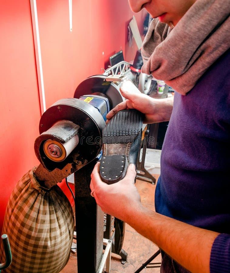 Shoes Repair royalty free stock image