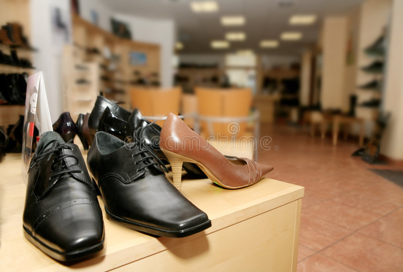 Shoes for sale stock images