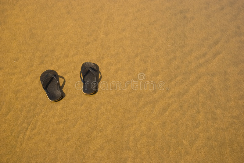 Download Shoes on the send stock image. Image of blue, sand, sign - 8759287