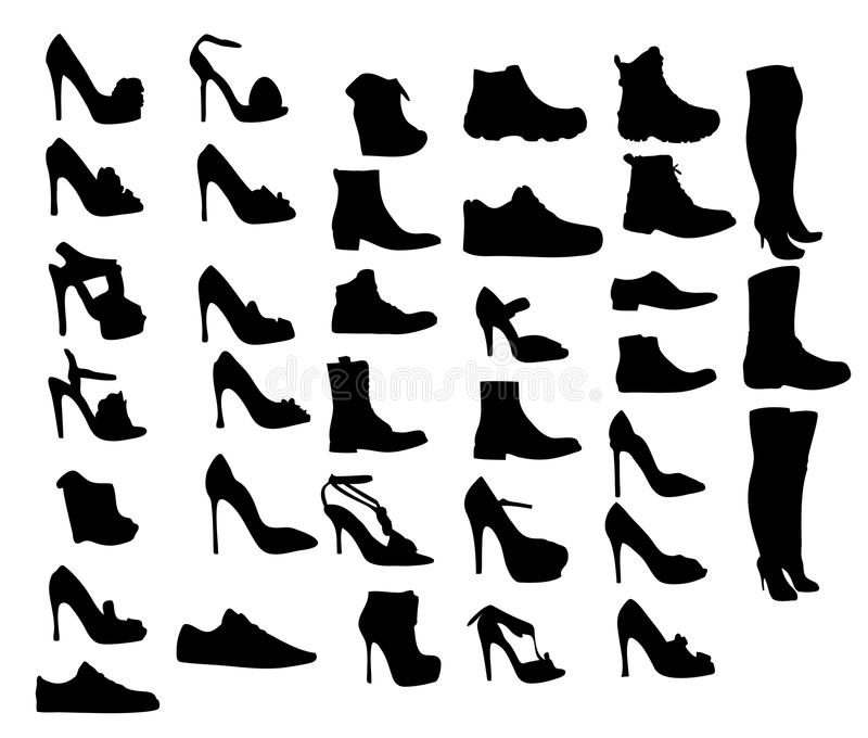 Shoes silhouette vector illustration eps10 royalty free illustration
