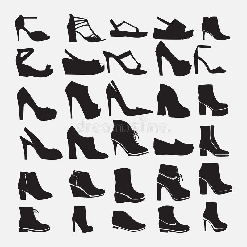 Shoes silhouettes - Illustration stock illustration