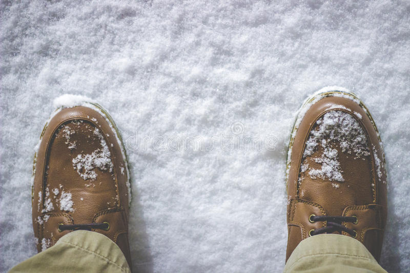 Shoes In The Snow Free Public Domain Cc0 Image