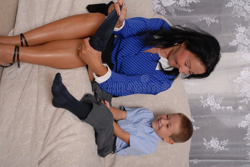 Download Shoes and Socks Time 10 stock photo. Image of mother, family - 1212598
