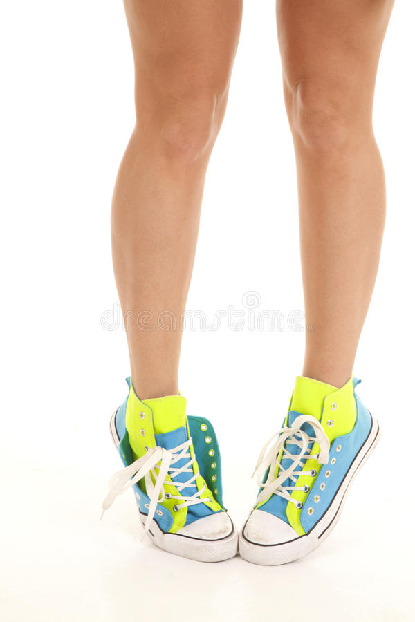 Shoes Stand On Toes Royalty Free Stock Image