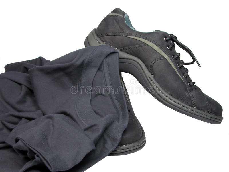 Shoes And T-shirt Royalty Free Stock Photo