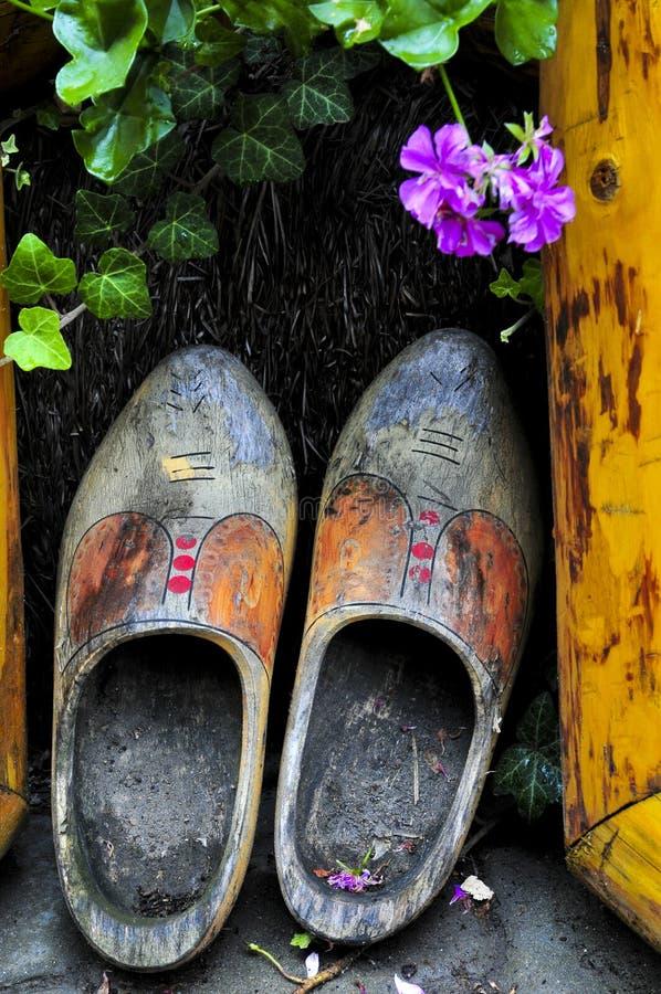 shoes trä fotografering för bildbyråer
