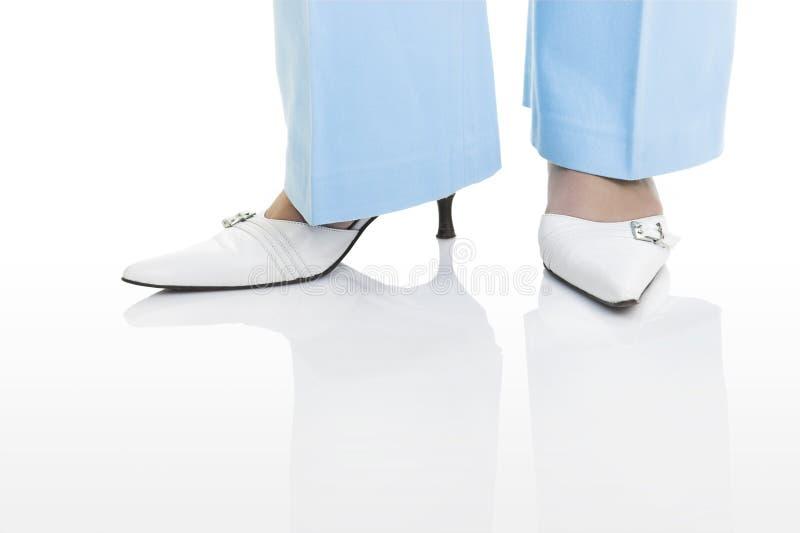 shoes white royaltyfri foto