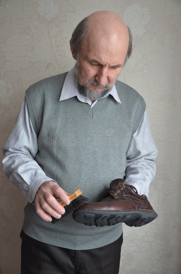 Shoeshine fotografia stock
