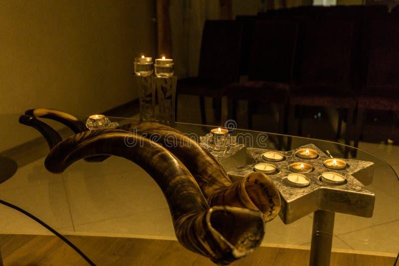 Shofar feiertag synagoge judentum lizenzfreies stockbild