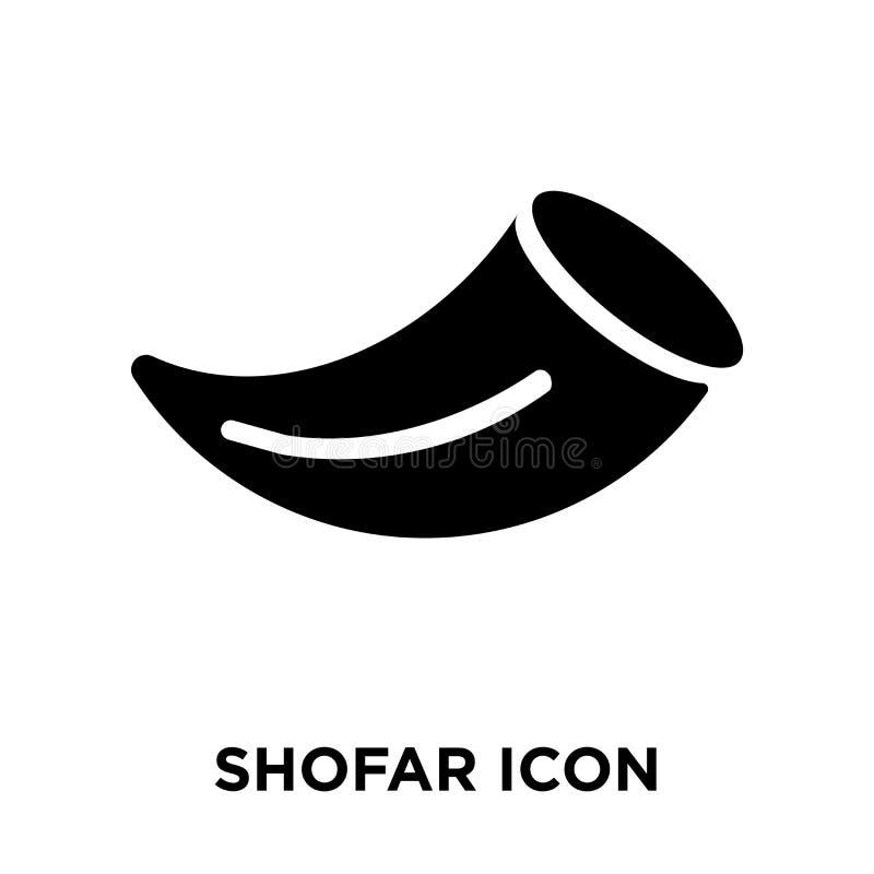 Shofar icon vector isolated on white background, logo concept of stock illustration