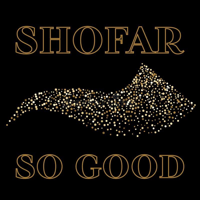 Shofar Yom Kippur greeting card, vector illustration vector illustration