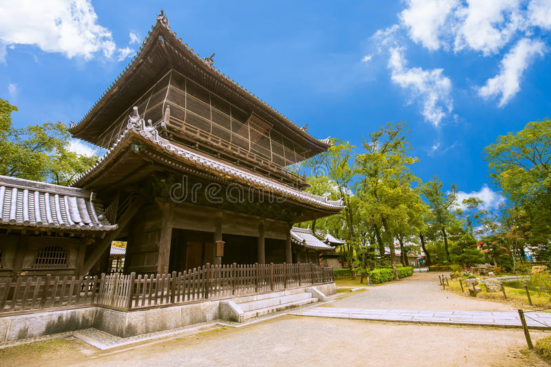 Shofukuji Zen Temple em Fukuoka, Japão fotos de stock