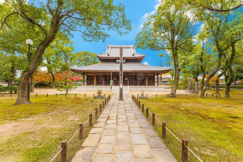 Shofukuji Zen Temple em Fukuoka, Japão fotografia de stock royalty free