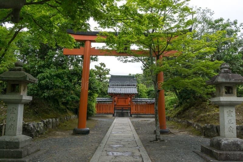 Shoganji寺庙arashiyama 图库摄影