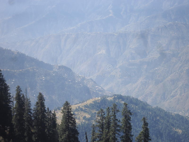 Shogran-Hügelstation Pakistan lizenzfreie stockfotos
