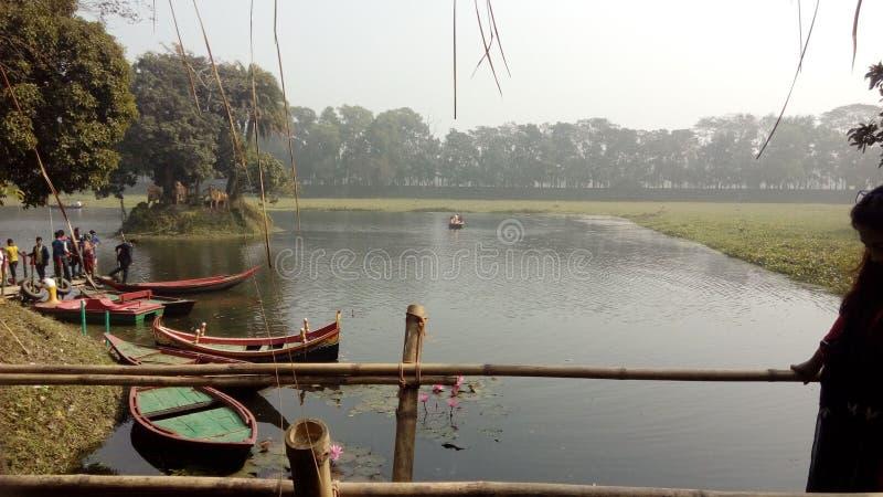 Shonargaon湖 库存照片