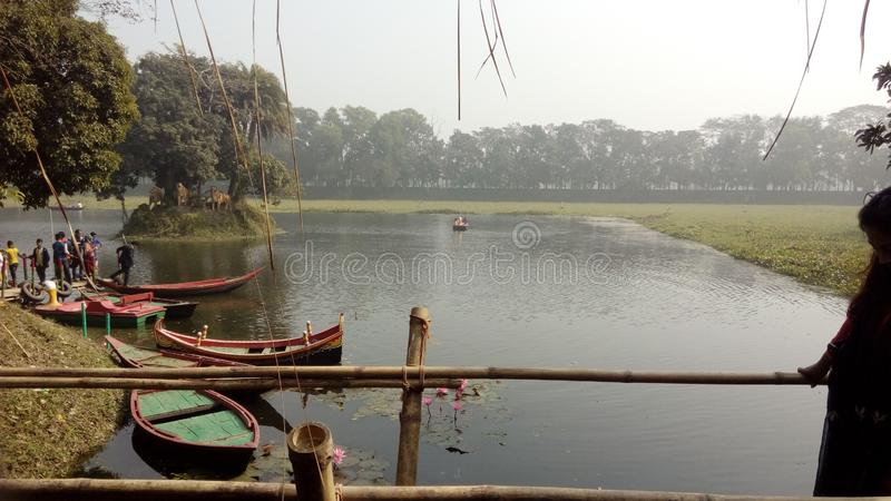 Shonargaon lake. Photo was captured at Shonargaon located near Narayanganj in Bangladesh stock photos