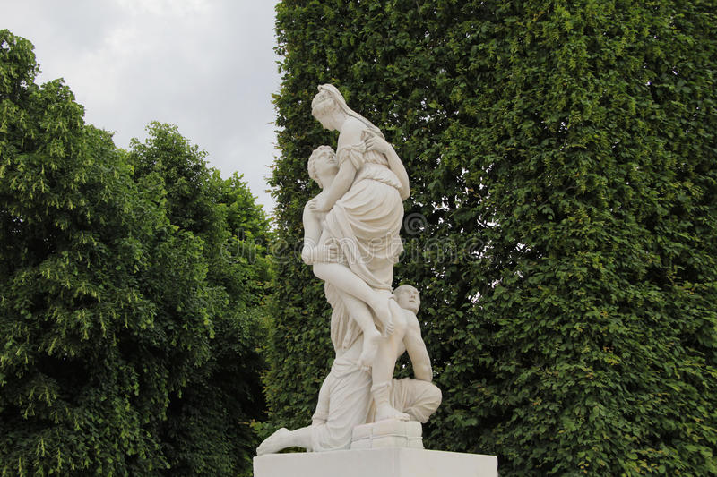 Shonbrunn palace. The monument in Shonbrunn palace in Vienna, Austria stock photography